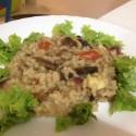 risoto, shitake, alimentação vegetariana
